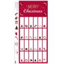 Advent Calendar Col. 101 Red/Gold Metallic (60cm)